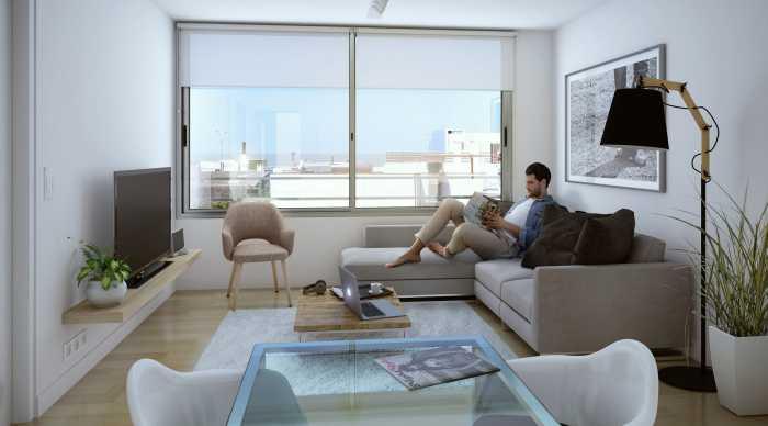 Venta de apartamento de 1dormitorio en Malvín, Solaris Playa