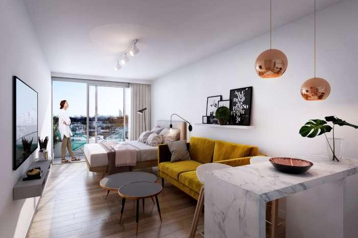 Venta Apartamento Monoambiente Smart Point Tres Cruces