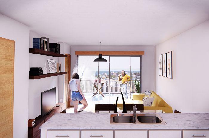 ¡Venta de apartamento de 3 dormitorios en Cordón Sur!